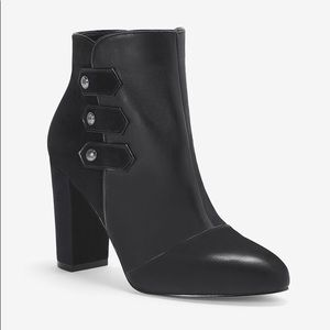 White House black market leather booties
